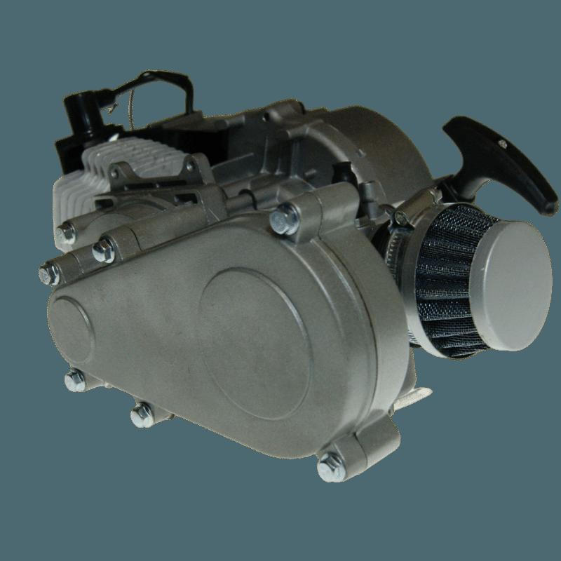 E2 ENGINE 49CC 2 STROKE MOTOR EASY START POCKET BIKE MINI DIRT ATV QUAD COMPLETE